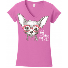 Life Is Better With A Chihuahua - White Lettering