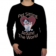 Pet Sitting Around the World - Special Order Long Sleeve 3014B