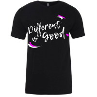 Different Is Good - Black T-Shirt