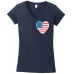4th of July Heart Flag t-shirts