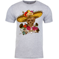 Day of the Dead Halloween Skull with Sombrero t-shirt