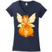 A Fairy Tale Series - Autumn Fairy Young Girl with Her Teddy Bear