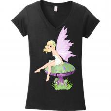 A Fairy Tale Series - Summer Fairy on Purple & Green Mushroom