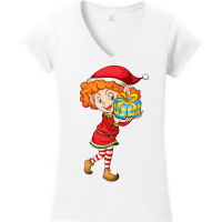 A Christmas Elf Series - Girl Elf with Blue Gift